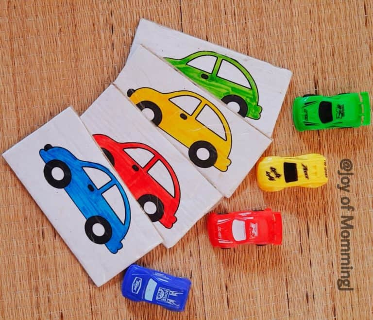 Colorful cars-Flashcards