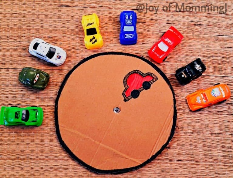 DIY Spin Board – Colorful cars
