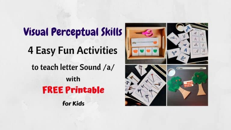 Visual Perceptual Skills | Letter 'A' Activities | FREE Printable