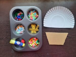 Things required for Cup cake Craft